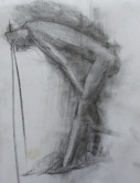 Charcoal drawing.