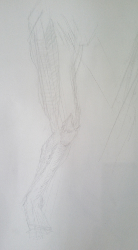 Men have so many twists and turns in their legs. I think it was a 10 minute sketch?