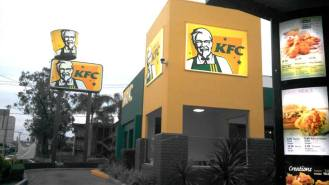 Yes. That is a yellow Ashes' KFC you're seeing.