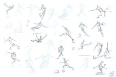 Sketches for a World-Cup-themed posing competition.