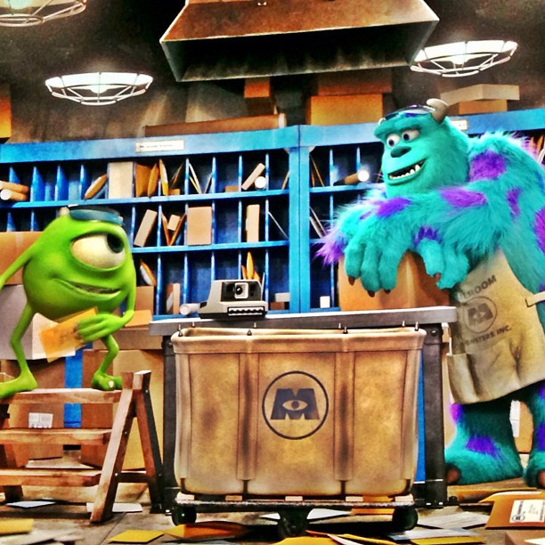 Like Mike and Sully in 'Monster's University'! Source: flickr