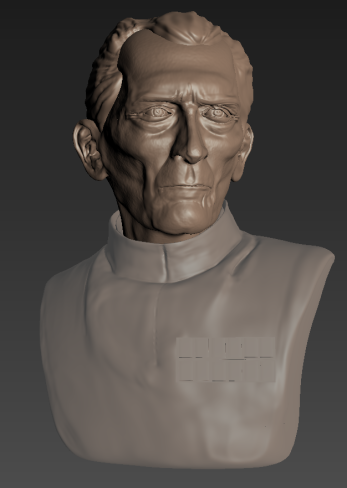 My first attempt at sculpting in Mudbox. I chose the actor Peter Cushing for his distinctive face.