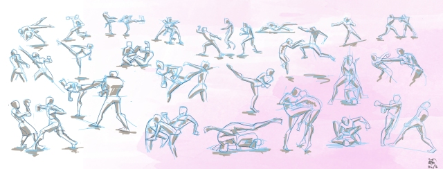 sketches_fighting